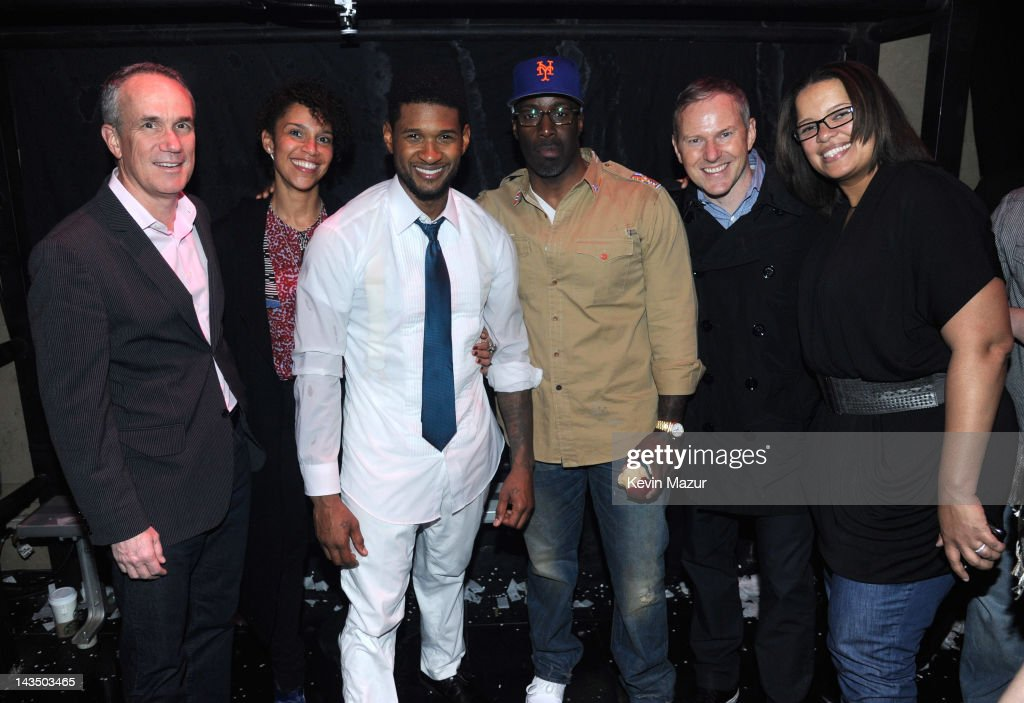 President and COO RCA Records Tom Corson Grace Miguel of Usher's management Usher President Urban music RCA Mark Pitts CEO RCA Peter Edge and SVP...