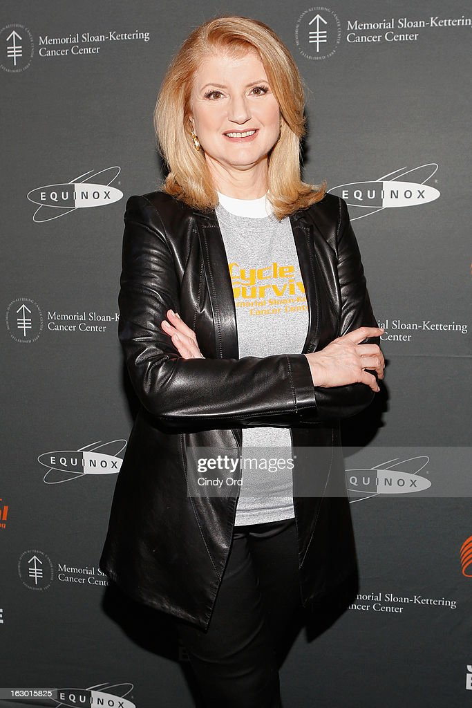 President and Editor-in-Chief, Huffington Post, Arianna Huffington attends the 2013 Cycle For Survival Benefit at Equinox Rock Center on March 3, 2013 in New York City.