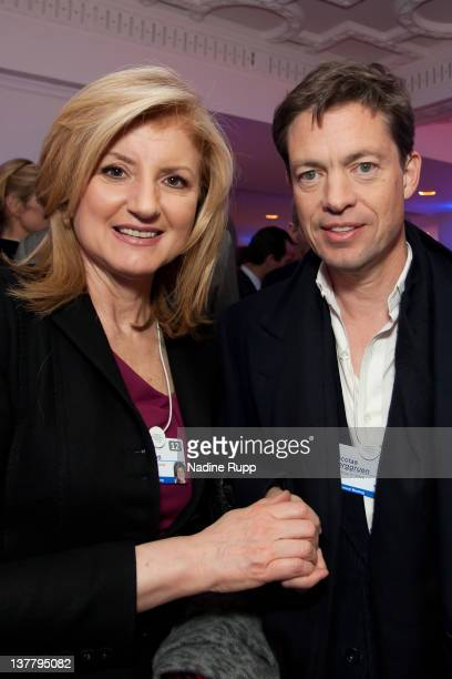President and editorinchief of The Huffington Post Media Group Arianna Huffington and Nicolas Berggruen billionaire investor and founder of Berggruen...