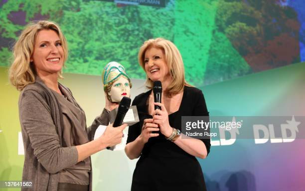 President and editorinchief of The Huffington Post Media Group Arianna Huffington is awarded with the 'Aenne Burda Award for Creative Leadership' by...
