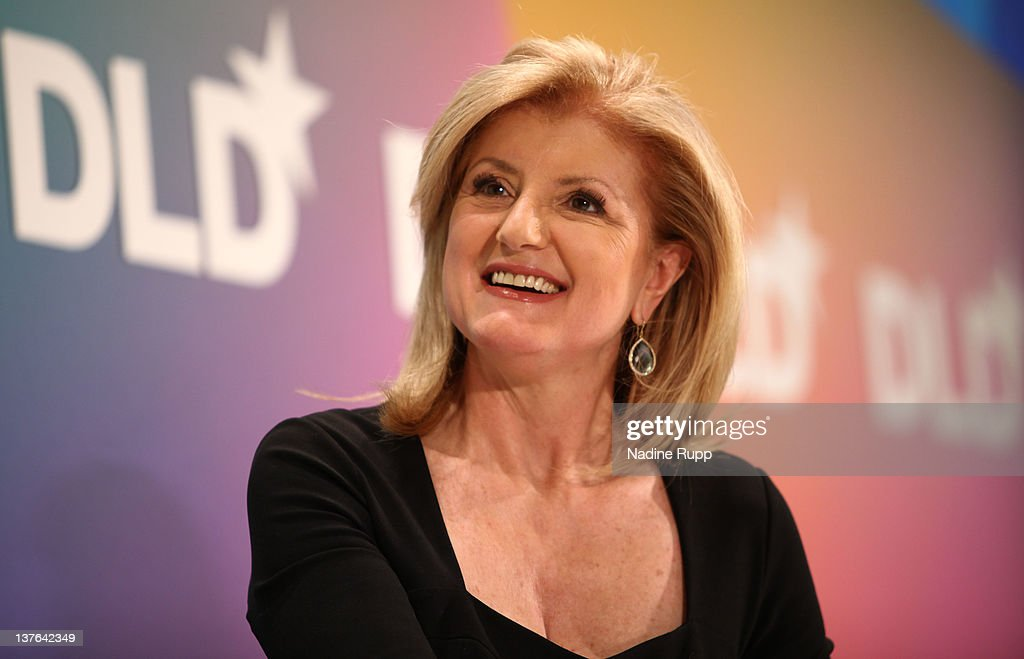 President and editor-in-chief of The Huffington Post Media Group, <a gi-track='captionPersonalityLinkClicked' href=/galleries/search?phrase=Arianna+Huffington&family=editorial&specificpeople=204730 ng-click='$event.stopPropagation()'>Arianna Huffington</a>, speaks during the Digital Life Design conference (DLD) at HVB Forum on January 24, 2012 in Munich, Germany. ence and culture which connects business, creative and social leaders, opinion-formers and investors for crossover conversation and inspiration.