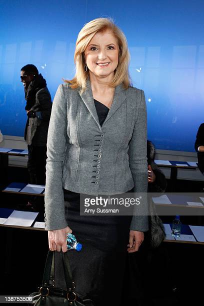President and editorinchief of The Huffington Post Media Group Arianna Huffington attends the Prabal Gurung Fall 2012 Collection show with FIJI Water...