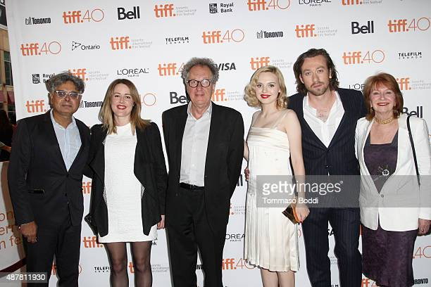 President and Founder of Mongrel Media Hussain Amarshi producer Nicole O'Donohue actor Geoffrey Rush actress Odessa Young writer/director Simon Stone...