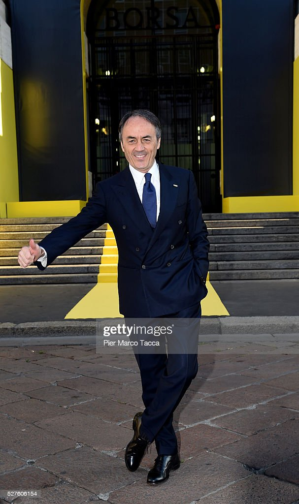 President and founder of Technogym Nerio Alessandri attends the Technogym Listing Ceremony at Palazzo Mezzanotte on May 3, 2016 in Milan, Italy. Technogym is the world leader in the construction of equipment for gyms, founded in 1983 by Nerio Alessandri, and was listed today on the Milan Stock Exchange.