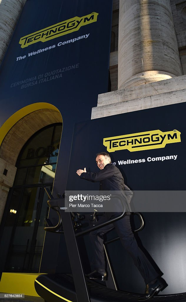 President and founder of Technogym <a gi-track='captionPersonalityLinkClicked' href=/galleries/search?phrase=Nerio+Alessandri&family=editorial&specificpeople=4607198 ng-click='$event.stopPropagation()'>Nerio Alessandri</a> attends the Technogym Listing Ceremony at Palazzo Mezzanotte on May 3, 2016 in Milan, Italy. Technogym is the world leader in the construction of equipment for gyms, founded in 1983 by <a gi-track='captionPersonalityLinkClicked' href=/galleries/search?phrase=Nerio+Alessandri&family=editorial&specificpeople=4607198 ng-click='$event.stopPropagation()'>Nerio Alessandri</a>, and was listed today on the Milan Stock Exchange.