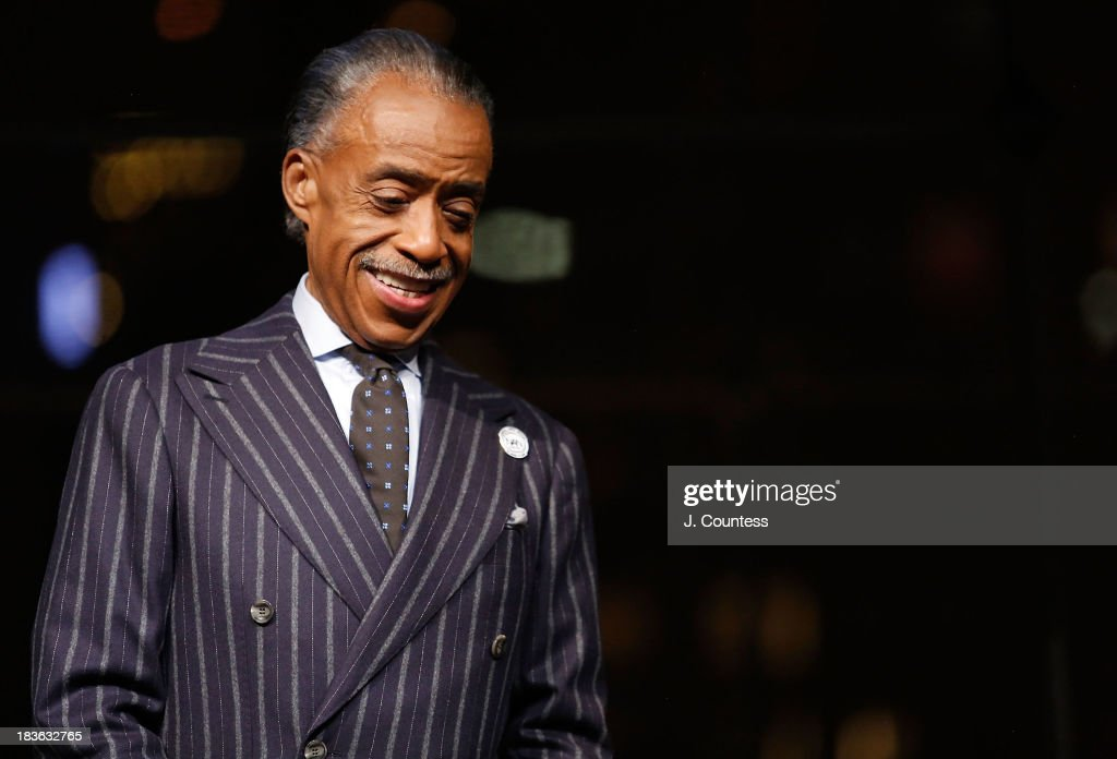 President and founder of the National Action Network Reverend Al Sharpton attends The 4th Annual Triumph Awards at Rose Theater, Jazz at Lincoln Center on October 7, 2013 in New York City.