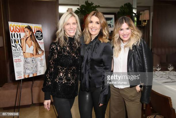 President and Founder of Trendera Jane Buckingham Cosmopolitan Magazine Editor in Chief Michele Promaulayko and Drybar Founder Alli Webb attend the...