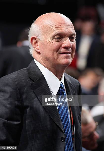 President and General Manager Lou Lamoriello of the New Jersey Devils during the 2014 NHL Entry Draft at Wells Fargo Center on June 28 2014 in...