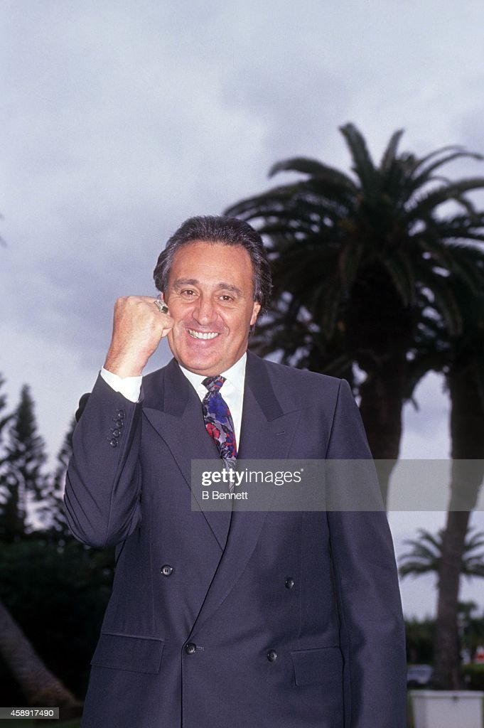 President and general manager <a gi-track='captionPersonalityLinkClicked' href=/galleries/search?phrase=Phil+Esposito&family=editorial&specificpeople=214575 ng-click='$event.stopPropagation()'>Phil Esposito</a> of the Tampa Bay Lightning poses for a portrait in September, 1990 at a golf course in Tampa, Florida.