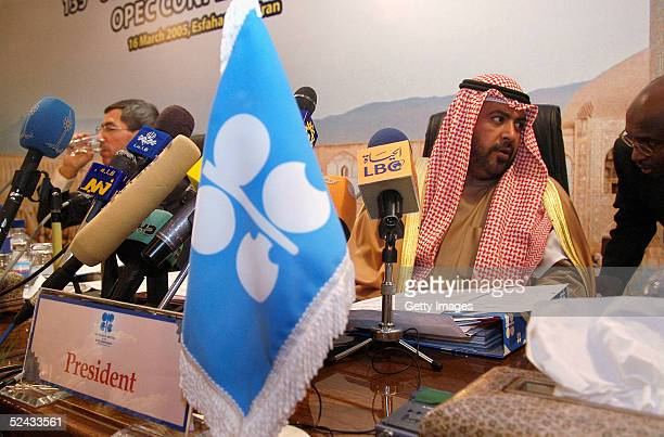 President and Kuwaiti Energy Minister Sheikh Ahmad alFahd alSabah attends the 135th meeting of the Organisation of Petroleum Countries conference...