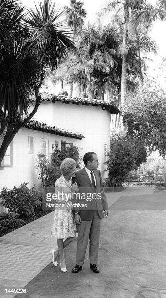 President and Mrs Nixon on vacation August 14 1969 in Key Biscayne FL