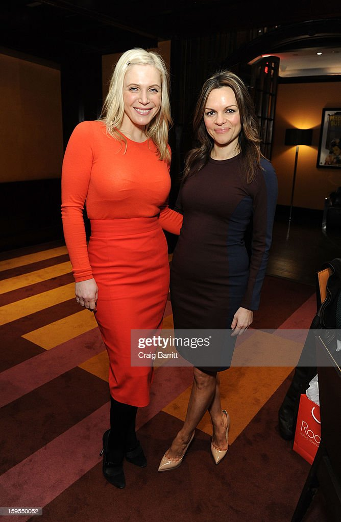 President and Owner of Rodial, Maria Hatzistefanis (R) attends the Rodial 10 Year Anniversary Luncheon at The Lambs Club on January 15, 2013 in New York City.