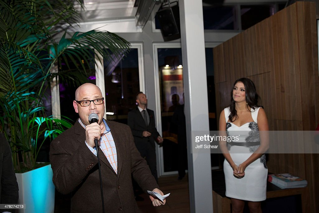 President and Publisher of Michigan Avenue Magazine Dan Uslan and <a gi-track='captionPersonalityLinkClicked' href=/galleries/search?phrase=Cecily+Strong&family=editorial&specificpeople=9951067 ng-click='$event.stopPropagation()'>Cecily Strong</a> attend the Michigan Avenue Magazine Spring Issue release celebration hosted by <a gi-track='captionPersonalityLinkClicked' href=/galleries/search?phrase=Cecily+Strong&family=editorial&specificpeople=9951067 ng-click='$event.stopPropagation()'>Cecily Strong</a> at The Godfrey Hotel on March 12, 2014 in Chicago, Illinois.