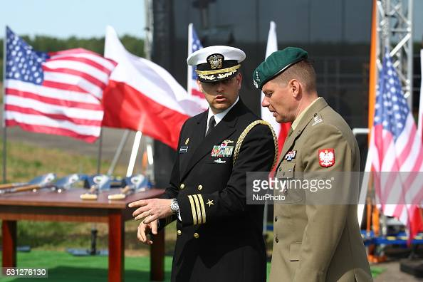 President Andrzej Duda and US Deputy Secretary of Defence Robert Work took part in the inauguration of a US antimissile station in Redzikowo Poland...