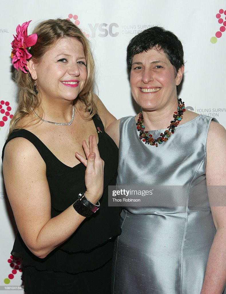 BOD president Anna Cluxton and CEO of Young Survival Coalition, Marcia Stein attend Young Survival Coalition Hosts 'In Living Pink' Benefit at Crimson on May 20, 2010 in New York City.