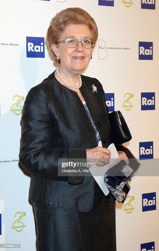 President Anna Maria Tarantola attends Premio Belisario 2013 at Dear RAI studios on June 20, 2013 in Rome, Italy.