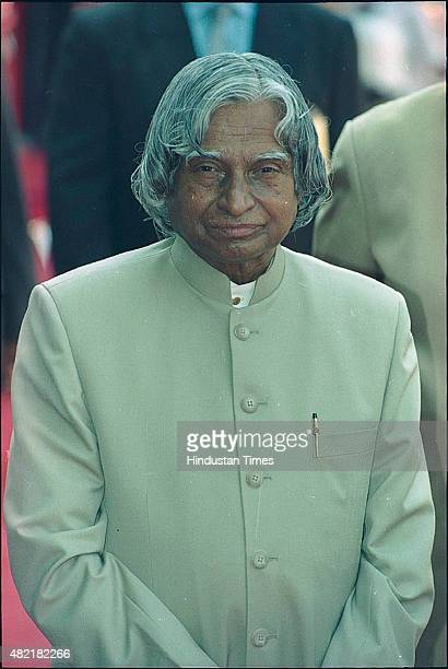 President APJ Abdul Kalam at the ceremonial reception of the President of the Republic of Ghana Mr John Agyekum Kufuor on August 5 2002 in New Delhi...
