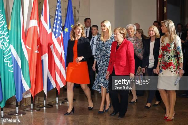 President Association of German Women Entrepreneurs Stephanie Bschorr Ivanka Trump daughter of US President Donald Trump German Chancellor Angela...