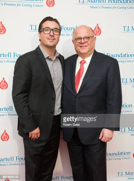 President at Billboard and Hollywood Reporter John Amato and Joel Katz attend the TJ Martell 42nd Annual New York Honors Gala at Guastavino's on...