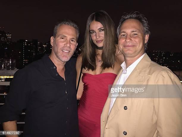 President at ONE Management Scott Lipps Marianne Fonseca Jason Binn circa August 2016 in New York City