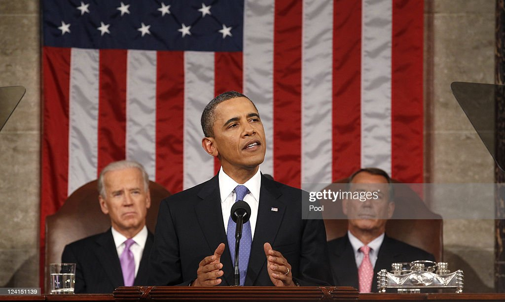 U.S. President Barack Obama addresses a Joint Session of Congress at the U.S. Capitol September 8, 2011 in Washington, DC. Obama addressed both houses of the U.S. legislature to highlight his plan to create jobs for millions of out of work Americans.