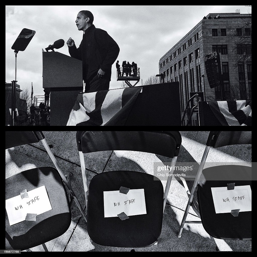 S. President Barack Obama addresses a rally during the last day of campaigning in the general election November 5, 2012 in Madison, Wisconsin.