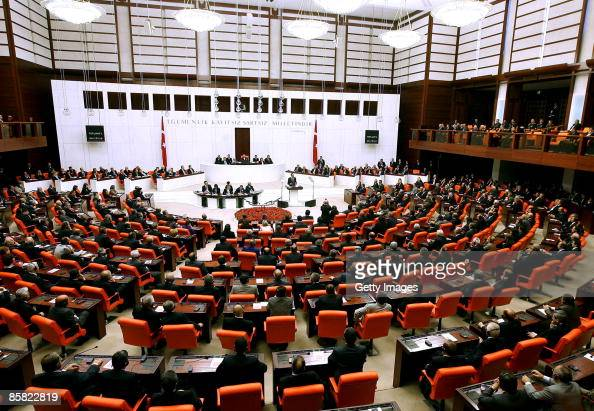 US President Barack Obama addresses the Turkish parliament April 6 2009 in Ankara Turkey Obama is on the last leg of an eightday trip to Europe his...
