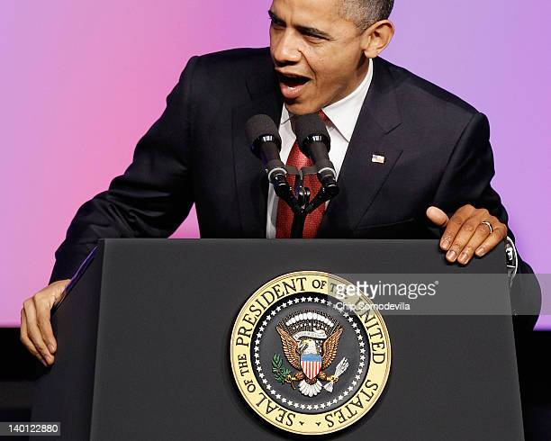 S President Barack Obama addresses the United Auto Workers' National Community Action Program Legislative Conference at the Marriott Wardman Park...