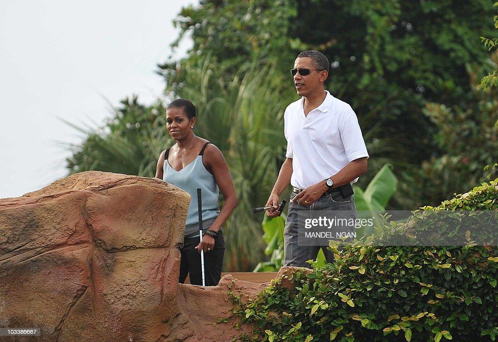 Us President Barack Obama And Family Visit Gulf Coast
