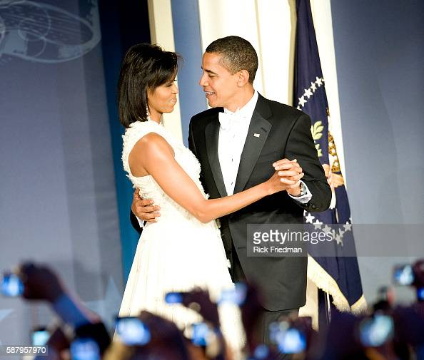 President Barack Obama and First Lady Michelle Obama at the Youth Inaugural Ball at the Washington Hilton in Washington DC