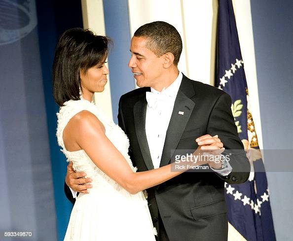 President Barack Obama and First Lady Michelle Obama at the Youth Inaugural Ball at the Washington Hilton in Washington