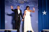 President Barack Obama and first lady Michelle Obama attend the Southern Inaugural Ball on January 21 2009 in Washington DC The Obamas will be...
