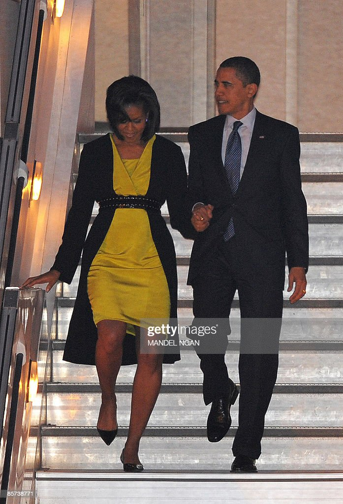 Barack And Michelle Obama Young President Obama Arrive...