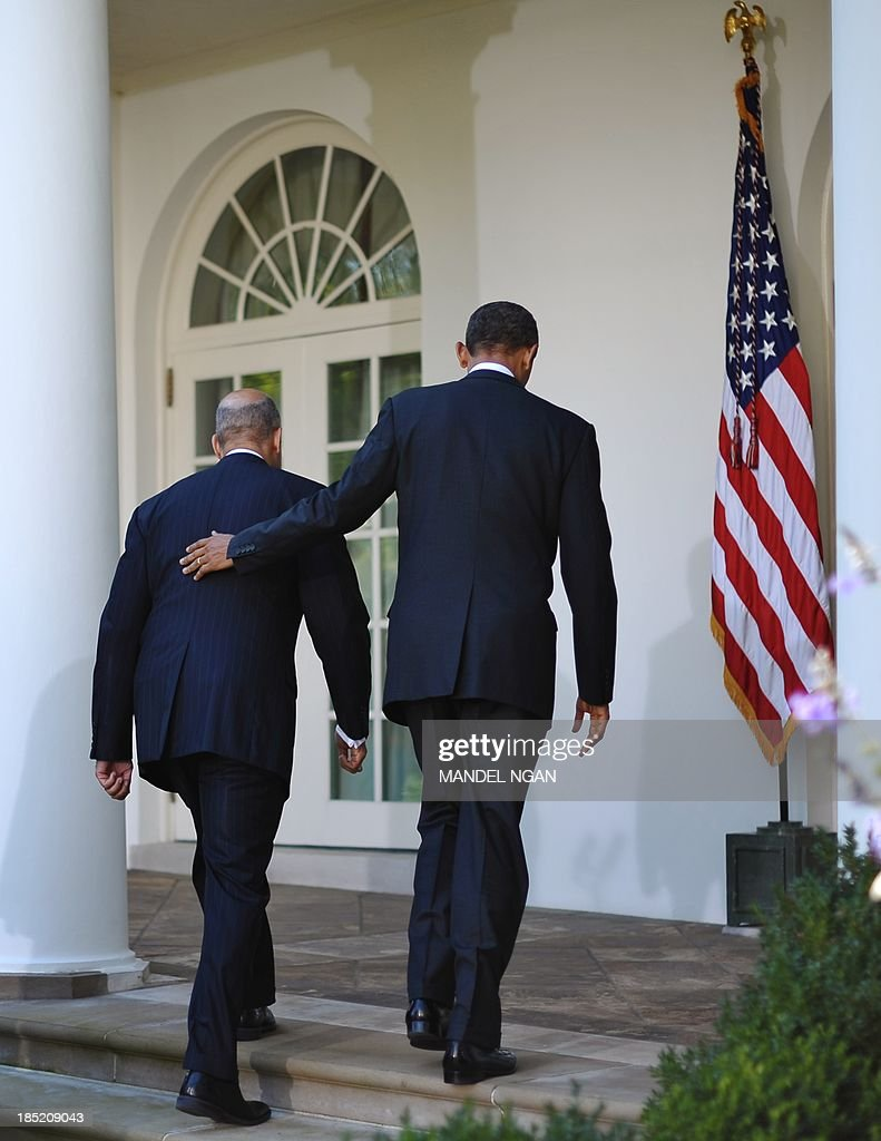 US President <a gi-track='captionPersonalityLinkClicked' href=/galleries/search?phrase=Barack+Obama&family=editorial&specificpeople=203260 ng-click='$event.stopPropagation()'>Barack Obama</a> (R) and Jeh Johnson make their way from the Rose Garden following a press conference at the White House on October 18, 2013 in Washington. Obama announced Johnson as his choice to be the next homeland security secretary. AFP PHOTO/Mandel NGAN