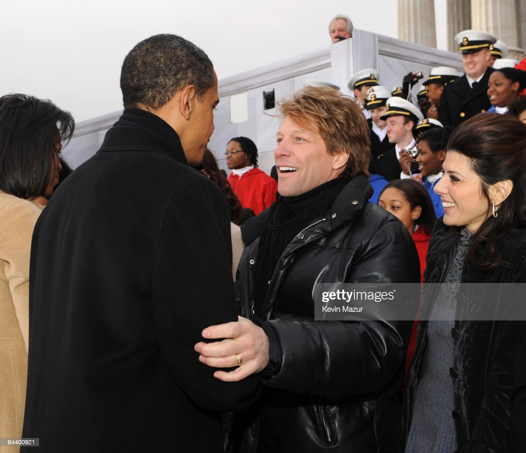 the kids inaugural we are the future concert backstage photos exclusive president barack obama and jon bon jovi backstage at ogravewe are one