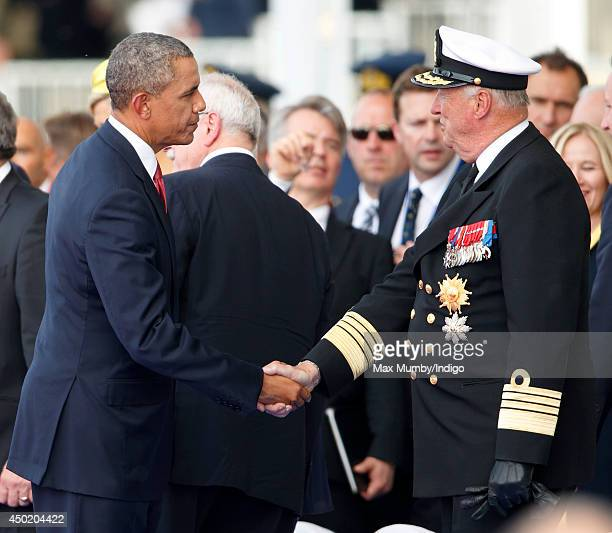 US President Barack Obama and King Harald of Norway attend the International Ceremony at Sword Beach to commemorate the 70th anniversary of the DDay...