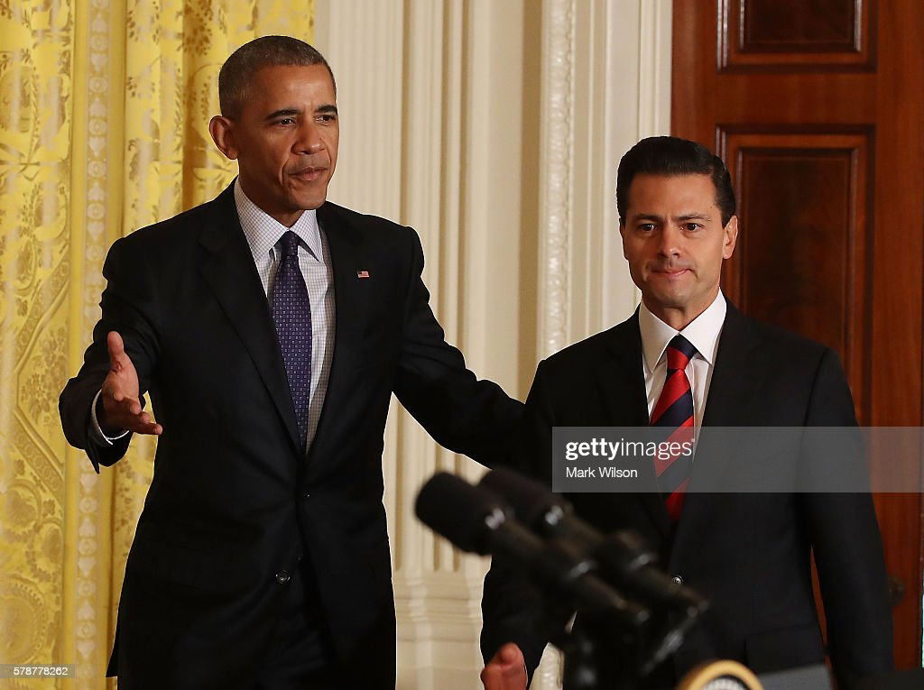 President Obama Holds News Conference With Mexican President Enrique Pena Nieto