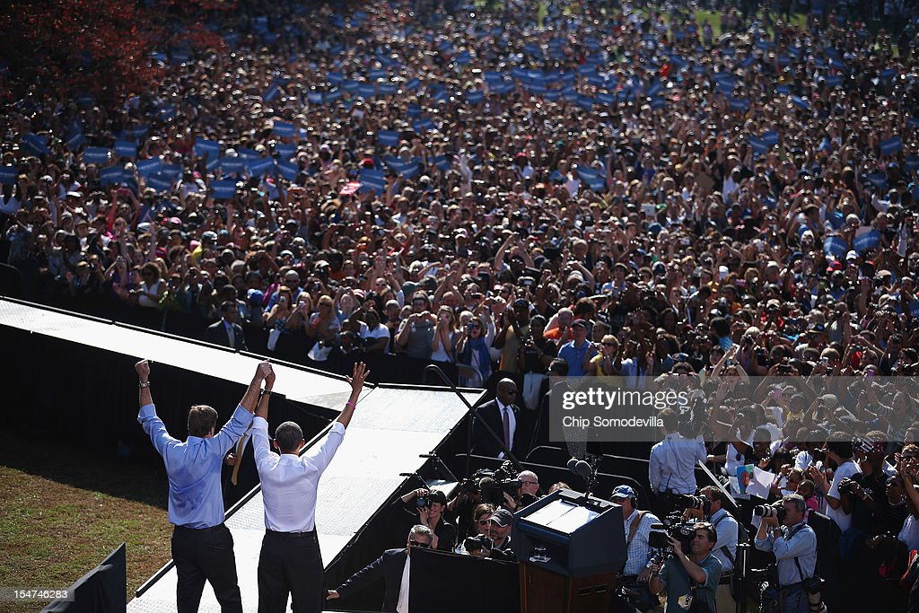 Obama Campaigns In Richmond And Cleveland On Second Day Of Campaign Tour