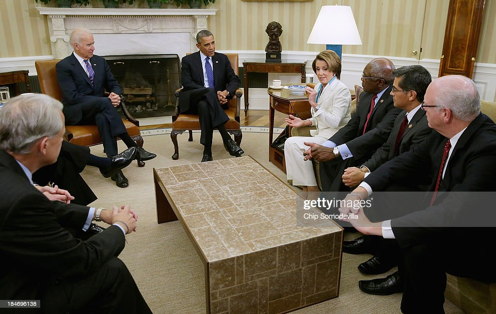 President Obama Meets With House Democratic Leadership