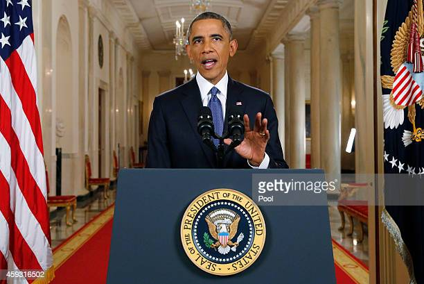 S President Barack Obama announces executive actions on US immigration policy during a nationally televised address from the White House November 20...