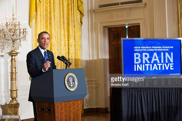 US President Barack Obama announces his administration's BRAIN initiative at the White House in Washington The White House unveiled details on...