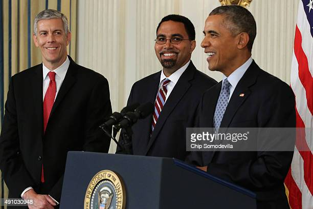 S President Barack Obama announces his nomination of Deputy Education Secretary John B King Jr to be the next head of the Education Department...