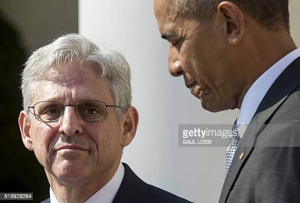 US President Barack Obama announces his Supreme Court nominee federal appeals court judge Merrick Garland during an announcement in the Rose Garden...
