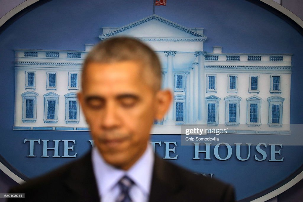 U.S. President Barack Obama answers questions during a news conference in the Brady Press Breifing Room at the White House December 16, 2016 in Washington, DC. In what could be the last press conference of his presidency, afterwards Obama will be leaving for his annual family vacation in Hawaii.
