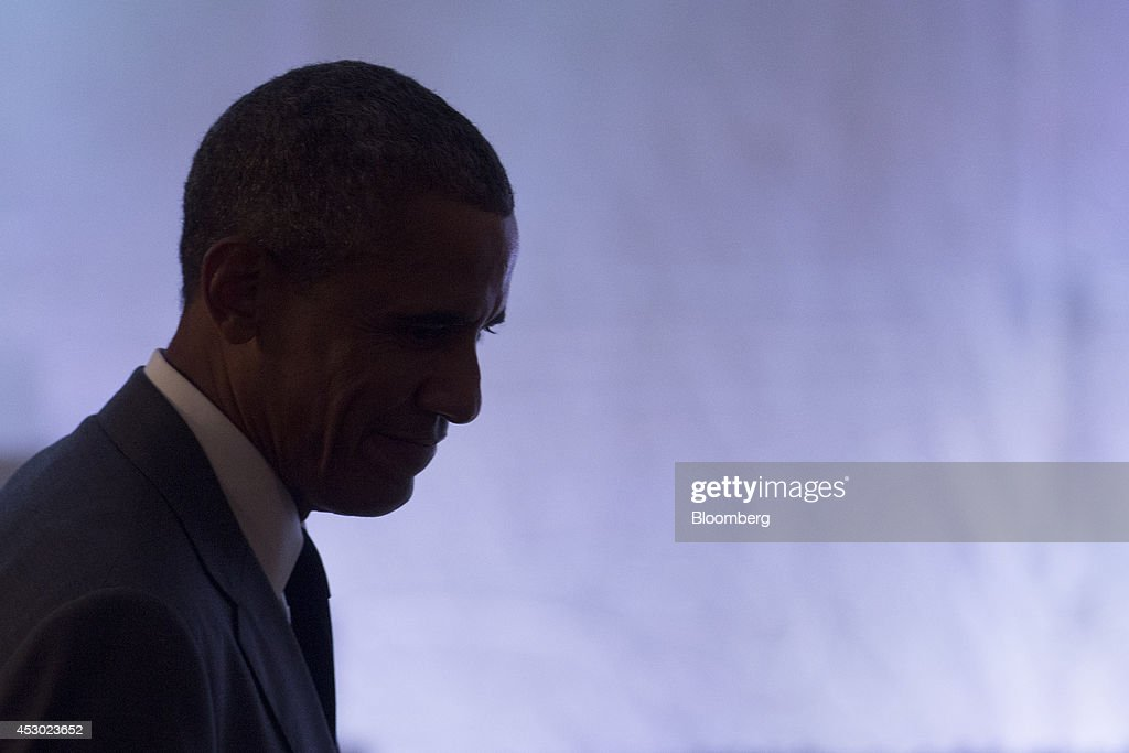 U.S. President <a gi-track='captionPersonalityLinkClicked' href=/galleries/search?phrase=Barack+Obama&family=editorial&specificpeople=203260 ng-click='$event.stopPropagation()'>Barack Obama</a> arrives to attend a concert commemorating the Special Olympics in the State Dining Room of the White House in Washington, D.C., U.S., on Thursday, July 31, 2014. Founded in 1968 by Eunice Kennedy Shriver, the Special Olympics movement has grown to more than 4.4 million athletes in 170 countries. Photographer: Andrew Harrer/Bloomberg via Getty Images