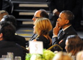S President Barack Obama attends USC Shoah Foundation's 20th Anniversary Gala at the Hyatt Regency Century Plaza on May 7 2014 in Century City...