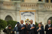US President Barack Obama Attorney General Eric Holder Homeland Security Secretary Janet Napolitano and FBI Director Robert Mueller attend the...