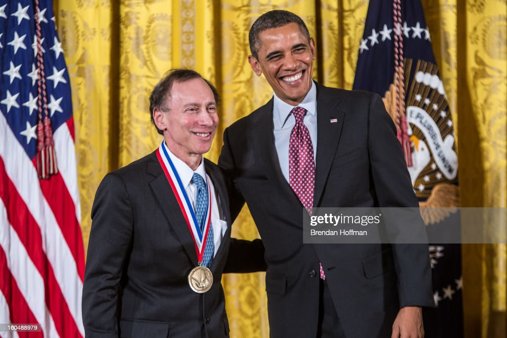 President <a gi-track='captionPersonalityLinkClicked' href=/galleries/search?phrase=Barack+Obama&family=editorial&specificpeople=203260 ng-click='$event.stopPropagation()'>Barack Obama</a> awards the National Medal of Technology and Innovation to Robert Langer in a ceremony at the White House on February 1, 2013 in Washington, DC. The National Medal of Science recognizes individuals who have made outstanding contributions to science and engineering, while the National Medal of Technology and Innovation recognizes those who have made lasting contributions to America's competitiveness and quality of life and helped strengthen the Nation's technological workforce.