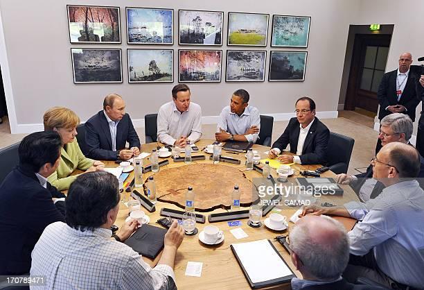 US President Barack Obama British Prime Minister David Cameron French President Francois Hollande Russian President Vladimir Putin German Chancellor...