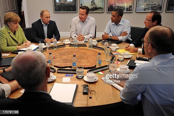 S President Barack Obama British Prime Minister David Cameron French President Francois Hollande Russian President Vladimir Putin German Chancellor...